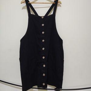 City Chic size M (18) denim pinafore dress